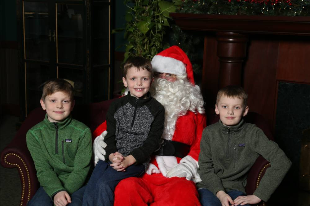 Little Lakers pose with Santa